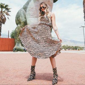 NastyGal Suede Zebra Sock Boots